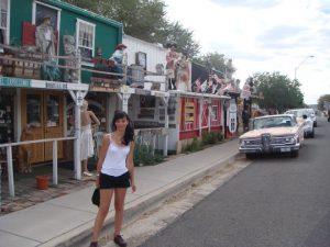 Die Überreste in Seligman, AZ an der Route 66.