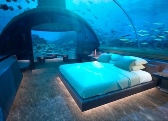 Übernachten unter dem Meeresspiegel