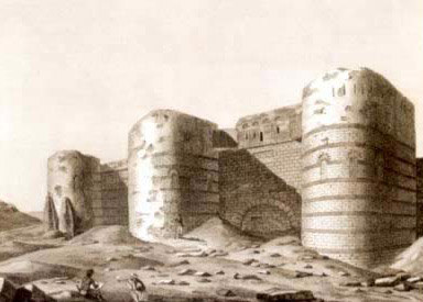 Ruins of the Fortress of Babylon from the Description de l'Egypte