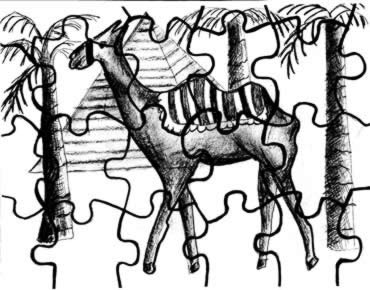 Activities for Children / Camel Puzzle