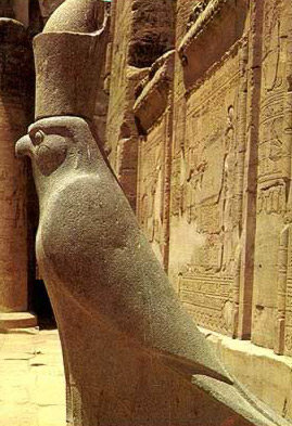 The famous Horus of Edfu at the Temple of Horus