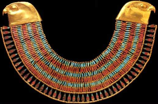 Necklace of Princess Neferuptah. Period: 12th Dynasty, Reign of Amenemhet III (1844-1797 BC). Cairo Antiquity Museum
