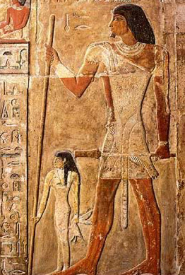 The Tomb of Nefer at Saqqara in Egypt