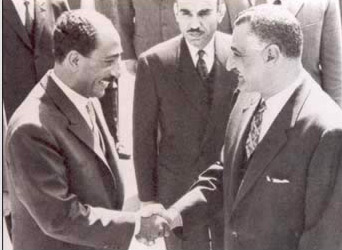 Image result for nasser and sadat