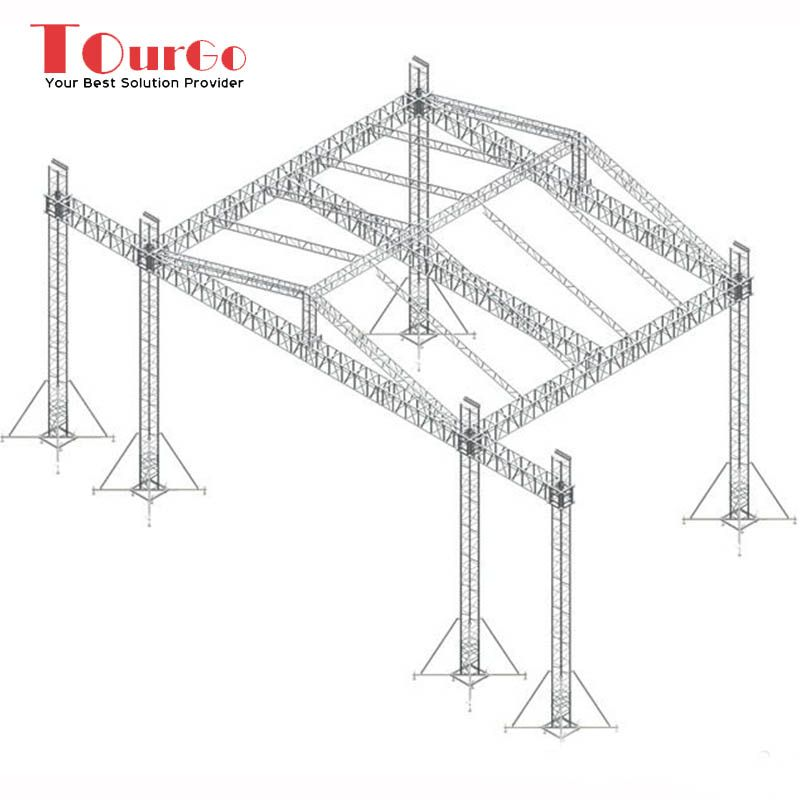 Tourgo Factory Price Aluminum Portable Outdoor Stage Roof