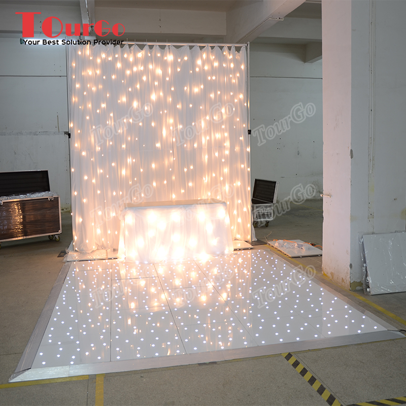 tourgo white starlit dance floor with led lights for wedding tourgo event solution co ltd