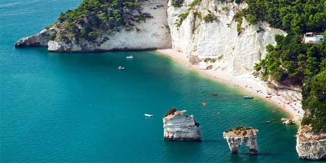 Vieste Italy Where Map