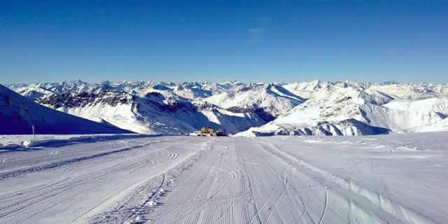 Summer ski resorts in Italy the glacier of the Stelvio Pass
