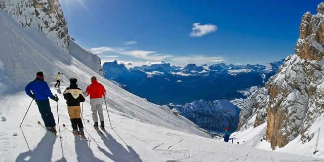 modern red chair aeron side cortina d'ampezzo, the best ski resort in dolomites