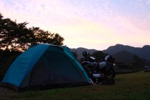 Sun Setting on Akiyoshidai
