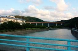Photo of a bridge from a bridge