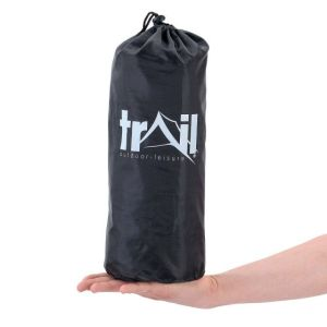 Compact inflatable single camping mat