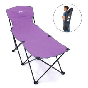 Trail folding lounger