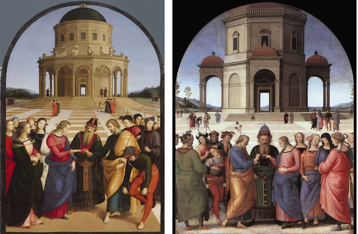 Sposalizio della Vergine a Brera Raffaello e Perugino a confronto