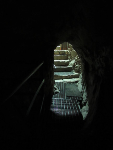 City of David - Looking out from Hezekiah's Tunnel