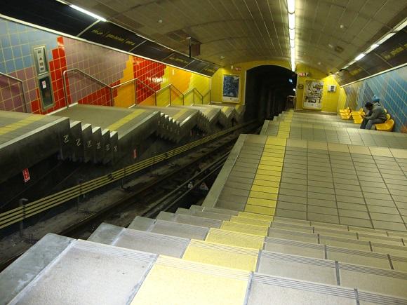 Touring Israel - carmelit subway haifa by deena levenstein