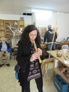 Touring Israel - joe's place playing the flute