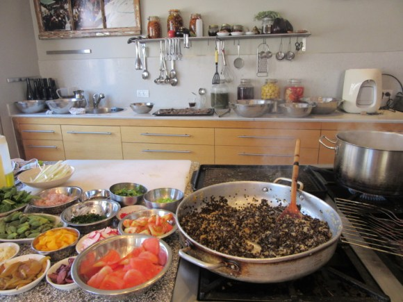 Touring Israel - ...And ended up with dozens of fresh ingredients ready to be thrown together perfectly.