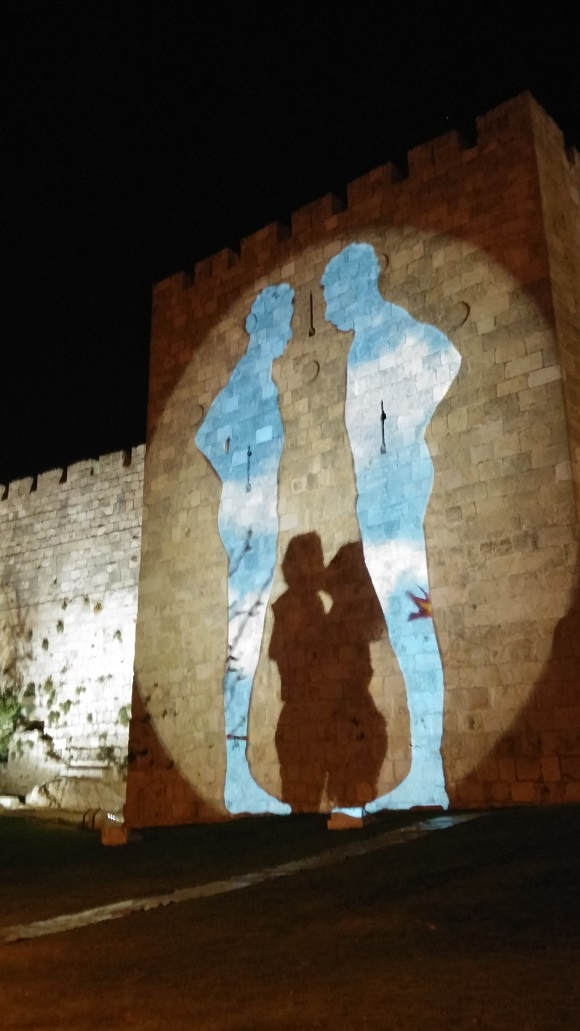 Touring Israel - jerusalem light festival 2015 dialogue in color by deena levenstein