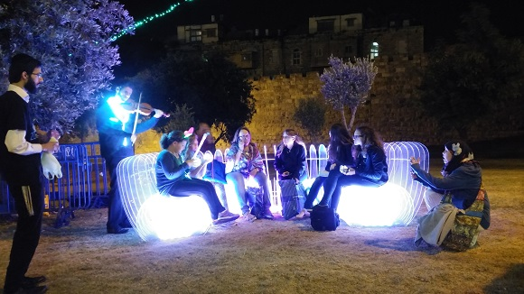 Touring Israel -  new jerusalem light festival 2015 meeting place for all