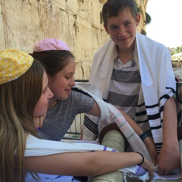 Touring Israel - Bar and bat mitzva at the Western Wall, Jerusalem