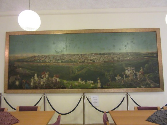 christ church guest house, artwork of old city jerusalem, photo by deena levenstein