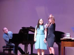 With Myramae Meneses, a masterclass participant and Farley Asuncion on piano.