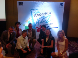 Members of EUNIC Philippines with Adelina Suemith of NCCA.