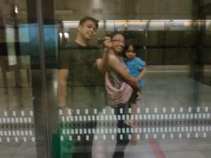 MRT selfie!