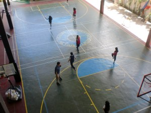 We first chanced upon the fifth grade female students in their Physical Education class.