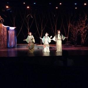 Wood sprites (Diwata ng Kahoy): L-R: Em Alcantara, Fay Dee Reyes, Poli Laurito.