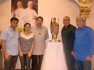 Some dedicated Music Ministry volunteers of the Shrine of Jesus: L-R: My husband who assists me with the children's choir, me, Monsignor Bobby Canlas-our Shrine Rector, Allan Puno (Music Ministry Coordinator and fellow Madz Alumni), and Atty. Mar Alojado-a member of Serenata Vocal Ensemble handled by Bro. Allan.