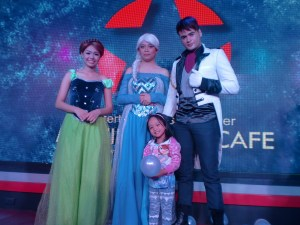 With my Frozen fanatic.