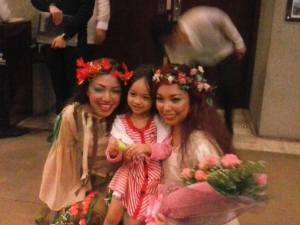 A blurry photo of the woodsprite, Aria, and Rusalka.