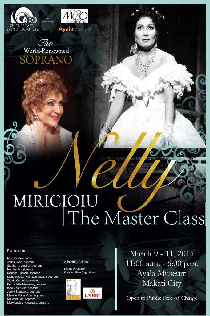 Super excited to sing for Nelly Miricioiu!