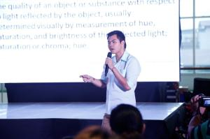 Since the characters of the movie, Inside Out were just colourful, the event also had Mark Dean Lim of Color Me Doodle talk about colours and their meaning.