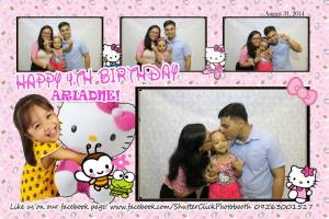 Aria wanted a party of her own for her fourth, after attending too many birthday parties of friends. So Mommy prayed for provision, and God gave it to us. Plus, this was the year that Hello Kitty themed parties at Jollibee was launched. Perfect timing! We invited a few friends and family to join the celebration.