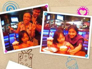 On Aria's third birthday, I had to attend a whole day seminar. So we chose to celebrate as a family at Friday's again, only because the discount card we got the previous year was expiring on Aria's birthday!