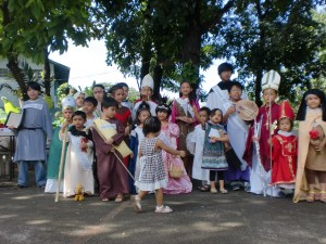 Aria as St. Cecilia. With some of the Rockers Kids at St. Rita de Cascia church in Philam Homes.