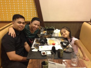 My husband joined us for dinner after his work, traveling from faraway Quezon City all the way to Mall of Asia.