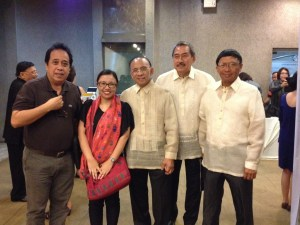 To my right is my uncle (brother of my father), and to my left is Dr. Buddy Ostrea, the man behind Ostreavent, along with his colleagues.
