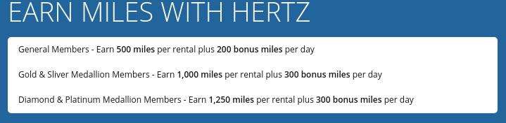 Delta SkyMiles Hertz Promo Miles