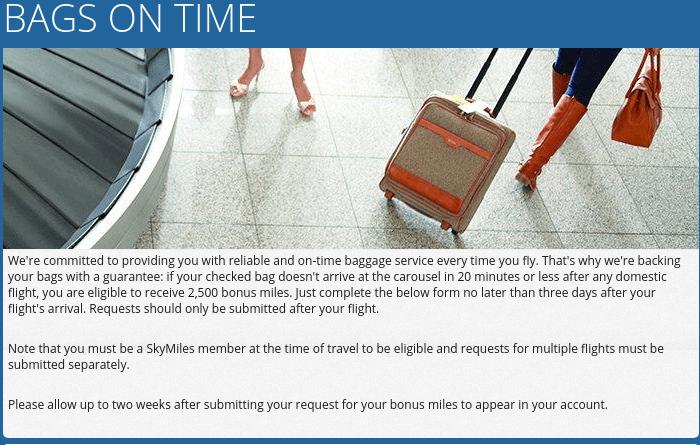 Delta baggage guarantee
