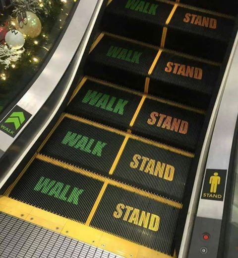 Stand on Right Walk on Left