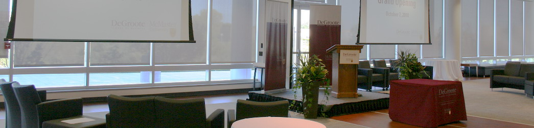 Meeting at DeGroote School of Business in Burlington