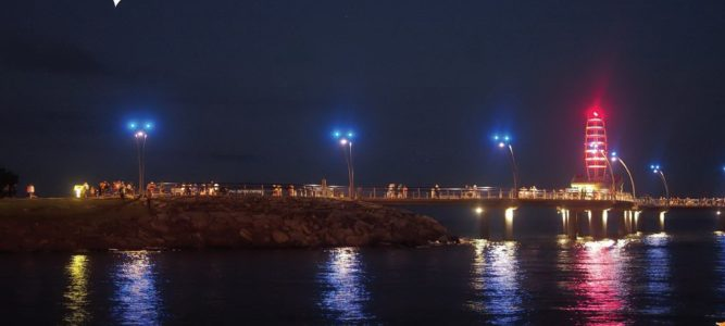 Brant St. Pier at Night by Robert Todd