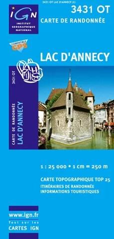 Ou trouver une carte de randonnée d'Annecy ?