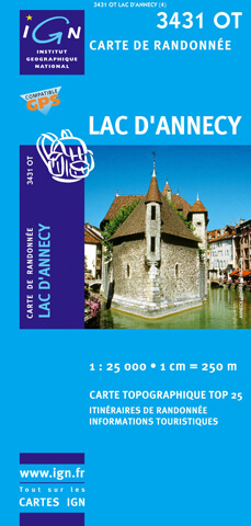 carte ign lac annecy