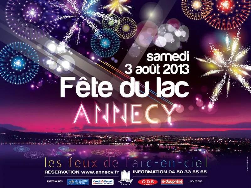 affiche des feux de la fête du lac d'Annecy