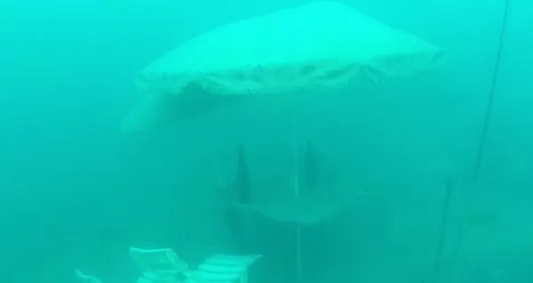 Annecy, installation sous l'eau